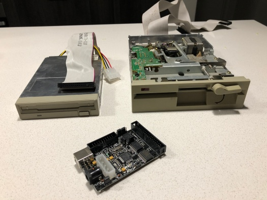 Floppy drives with the Kryoflux